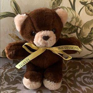 Travel Impressions brown plush bear 🐻 vtg doll